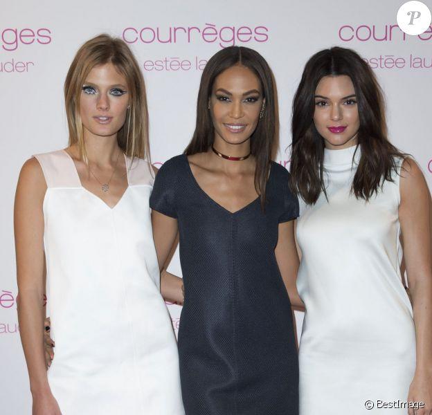 Constance Jablonski, Joan Smalls et Kendall Jenner - People au dîner privé Courrèges et Estée Lauder à Paris. Le 7 mars 2015