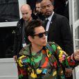 """Exclusif - Ben Stiller - Ben Stiller et Owen Wilson tournent une scène de """"Zoolander 2"""" lors de la fashion week à Paris le 10 mars 2015."""