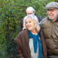 Exclusif - Jean-Pierre Marielle et Mylene Demongeot sur le tournage du téléfilm  Des roses en hiver , diffusé sur France 2, le 16 décembre 2013.