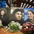 Hommage à Florence Arthaud, Camille Muffat et Alexis Vastine à l'INSEP, le 11 mars 2015.