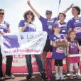 Stéphanie Fugain - La course des héros au parc de Saint-Cloud le 22 juin 2014.