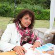 Stephanie Fugain en dedicace lors de la 'Foret des livres' à Chanceaux-Pres-Loches, pres de Tours en France le 25 août 2013.