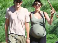 Milla Jovovich très enceinte: Soutenue par son chéri, le terme est proche !