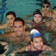 """Camille Lacourt lors du """"Défi de l'Eau"""" à la piscine Claude Jouve à BERRE-L'ETANG Le 14 Mars 201514/03/2015 - Berre Etang"""
