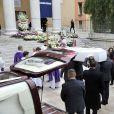 Les obsèques de Camille Muffat en l'église Saint Jean-Baptiste-Le Voeu à Nice, le 25 mars 2015