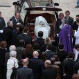 Les obsèques de Camille Muffat en l'église Saint Jean-Baptiste-Le Vœu à Nice, le 25 mars 2015