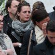 Laure Manaudou et Coralie Balmy lors des obsèques de Camille Muffat en l'église Saint Jean-Baptiste-Le Vœu à Nice, le 25 mars 2015