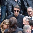 Alain Bernard lors des obsèques de Camille Muffat en l'église Saint Jean-Baptiste-Le Vœu à Nice, le 25 mars 2015