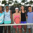 Serena Williams, Venus Williams, Martina Hingis, Ana Ivanovic et Kei Nishikori lors du All-Star Tennis Charity Event au Ritz Carlton de Key Biscayne, le 24 mars 2015