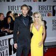 Rita Ora et Calvin Harris lors des Mastercard Brit Awards à Londres, le 19 février 2014