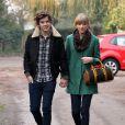 Taylor Swift et Harry Styles vont dejeuner en amoureux pour les 23 ans de la chanteuse, a Cheshire, le 13 decembre 2012.