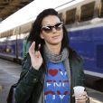 Katy Perry à Gare de Lyon, à Paris