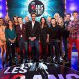 Anne-Gaëlle Riccio et Manu Lévu accompagnés des invités de l'émission  Les 10 Ans de la TNT  sur NRJ12.