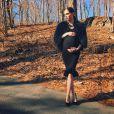 Coco Rocha, radieuse quelques jours avant son accouchement. Photo publiée le 22 mars 2015.