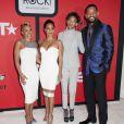 Adrienne Banfield-Jones, Jada Pinkett Smith, Willow et Will Smith assistent à la cérémonie Black Girls Rock au NJ Performing Arts Center. Newark, le 28 mars 2015.
