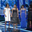 """Michelle Obama et les """"M.A.D. Girls"""" Kaya Thomas, Chental Song-Bembry et Gabrielle Jordan lors de la cérémonie Black Girls Rock au NJ Performing Arts Center. Newark, le 28 mars 2015."""