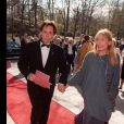 Joni Mitchell et son mari Don Freed à Stockholm en mai 1996.