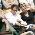 Sophie Davant et Pierre Sled à Roland Garros en 2007.