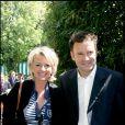 Sophie Davant et Pierre Sled à Riland Garros en 2006.