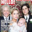 Couverture de  Hello,  pour le mariage de Peaches Geldof avec Thomas Cohen, sur la photo posent également Bob Geldof et le fils de la mariée, Astala - septembre 2012