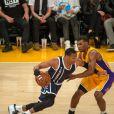 Russell Westbrook lors d'un match entre l'Oklahoma City Thunder et les Los Angeles Lakers au Staples Center de Los Angeles, le 19 novembre 2014