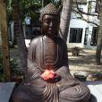 Le bouddha offert par Nathalie Sorensen à Christian Audigier pour lui porter bonheur. C'est le même que celui de Bob Dylan.