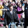 Mariage d'Andy Murray et Kim Sears à la cathédrale de Dunblane en Ecosse, le 11 avril 2015.