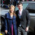 Tim et Lucy Henman au mariage d'Andy Murray et Kim Sears à la cathédrale de Dunblane en Ecosse, le 11 avril 2015.