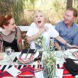 Jena Malone, Zoe Kravitz, Stuart Vevers et Laura Brown lors du Harpers Bazaar Brunch au Soho Desert House, La Quinta, le 11 avril 2015