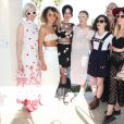 Sarah Hudson, Mia Moretti, Katy Perry, Cleo Wade et Margot lors du Harpers Bazaar Brunch au Soho Desert House, La Quinta, le 11 avril 2015