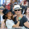 Nikki Reed et Ian Somerhalder durant le festival Coachella, au Empire Polo Club à Indio, le 11 avril 2015