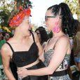 Katy Perry et Mia Moretti à la Pool party organisée par Mac Cosmetics X Mia Moretti au Ingleside Inn, à Palm Springs, le 10 avril 2015