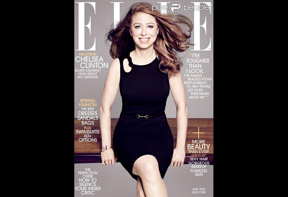 Chelsea Clinton en couverture du ELLE américain, mai 2015