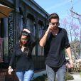 Kourtney Kardashian et Scott Disick à Calabasas, le 13 mars 2015.