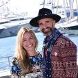 Piper Perabo et son mari Stephen Kay - MipTV 2015 à Cannes, le 14 avril 2015.