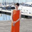 """L'actrice britannique Jessica Raine lors du photocall de la série """"Partners in crime"""" dans le cadre du MIPTV 2015 à Cannes le 13 avril 2015 qui se déroule au Palais des Festivals du 13 au 16 mai."""