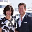 Catherine Bell et James Denton - MipTV 2015 à Cannes, le 13 avril 2015.