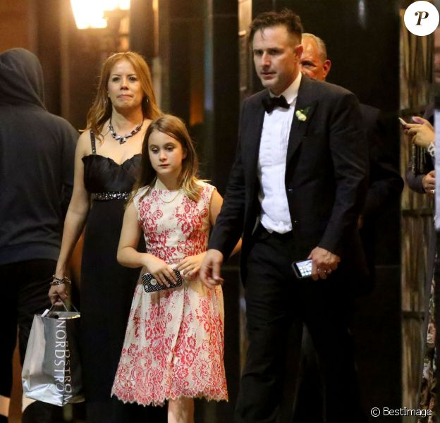 Exclusif - David Arquette et sa fille Coco Arquette - David Arquette et Christina McLarty se sont mariés en présence de leurs familles et de leurs amis à Cicada, Los Angeles, le 12 avril 2015.