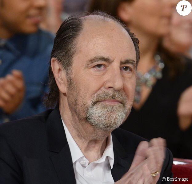 """Michel Delpech - Enregistrement de l'émission """"Vivement dimanche"""" à Paris le 15 octobre 2014."""