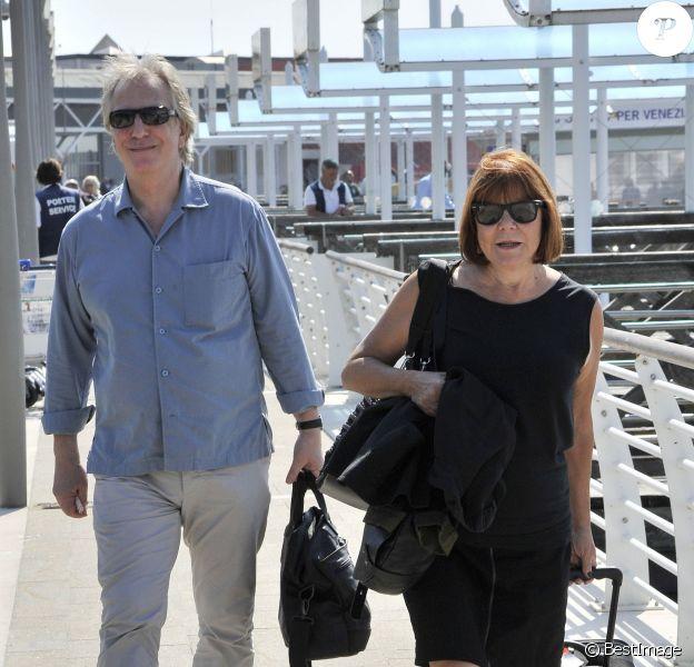 Alan Rickman et sa femme arrivent au 70e festival international du film de Venise, La Mostra. Le 5 septembre 2013