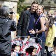 Exclusif - L'ancien mannequin Ivanka Trump lors du semi-marathon de New York, supportée par ses enfants et son mari Jared Kushner. Le 19 avril 2015