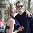 Exclusif - Ivanka Trump lors du semi-marathon de New York, supportée par ses enfants et son mari Jared Kushner. Le 19 avril 2015