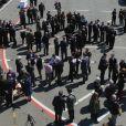 Le prince Charles et le prince Harry prenaient part à la réception organisée le 24 avril 2015 à bord du HMS Bulwark dans la péninsule de Gallipoli pour les commémorations du centenaire de la bataille du même nom.