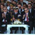 Le prince Charles et le président Erdogan au mémorial d'Abide en Turquie pour le centenaire de la bataille de Gallipoli, le 24 avril 2015.