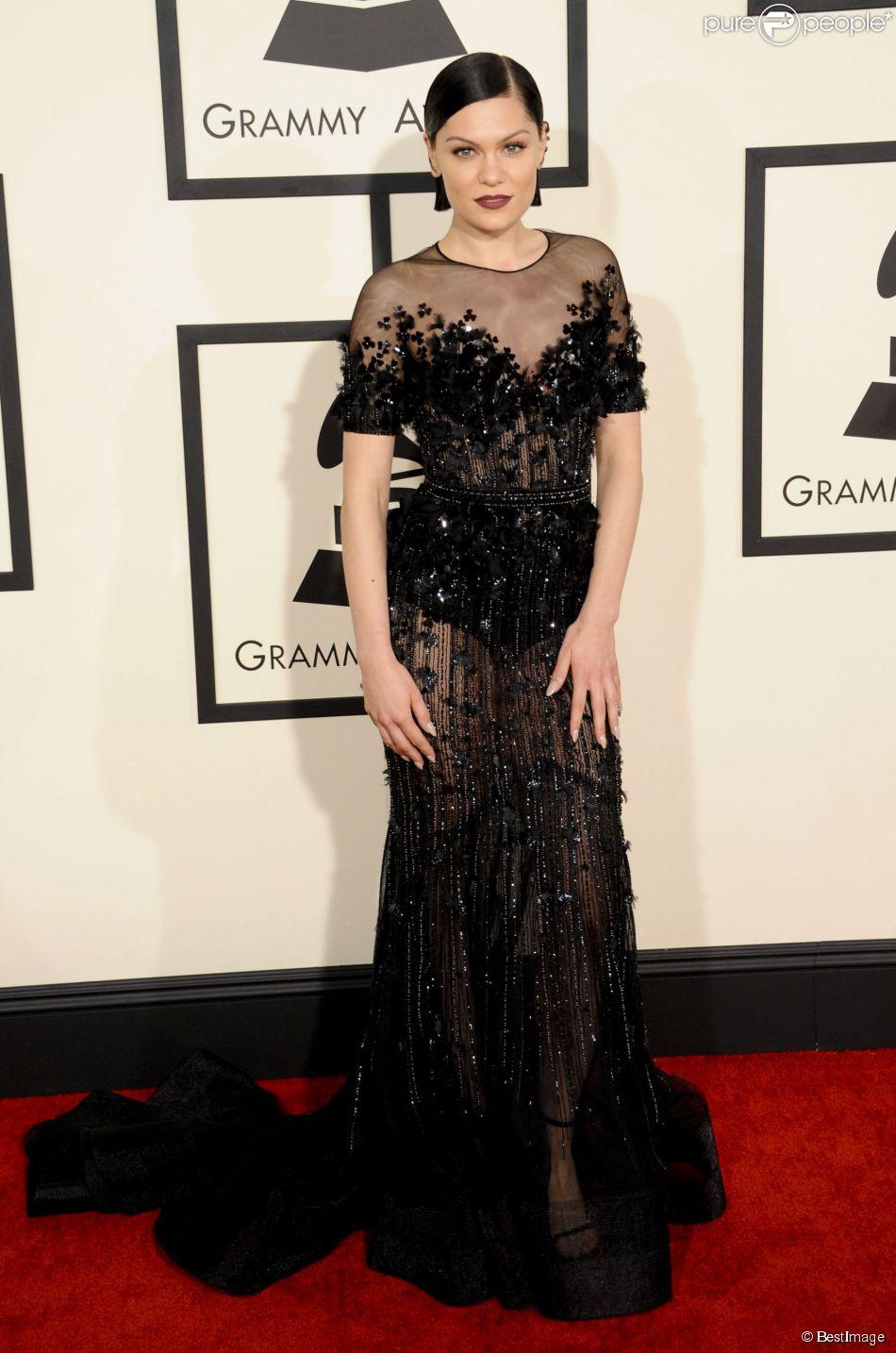 La chanteuse Jessie J - Arrivées à la 57ème soirée annuelle des Grammy Awards au Staples Center à Los Angeles, le 8 février 2015.