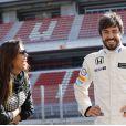 Fernando Alonso remercie sa belle Lara Alvarez sur Twitter le 26 mars 2015.