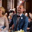 Mariage civil et religieux de Julie Taton et Harold Van Der Straten, à l'hôtel de ville de Bruxelles et à l'église Notre-Dame du Sablon, le 2 mai 2015.