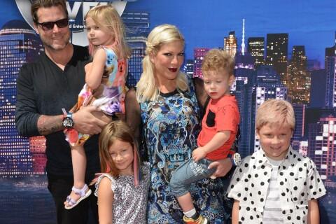 Tori Spelling comblée et David Charvet amoureux : Super-héros de leurs enfants