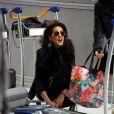 Exclusif - Elodie ( Secret Story 8 ) - Départ pour le Mexique des candidates de l'émission de NT1  La Villa des coeurs brisés  à l'aéroport de Paris-Charles-de-Gaulle, à Roissy-en-France, le 30 janvier 2015.