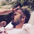 """""""David Beckham se faisant coiffer par Harper au lendemain de son anniversaire à Marrakech"""""""